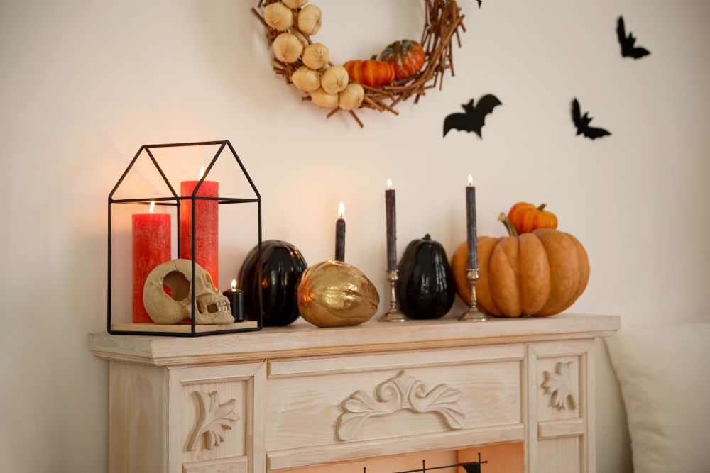Halloween Decor - transition from fall to Halloween