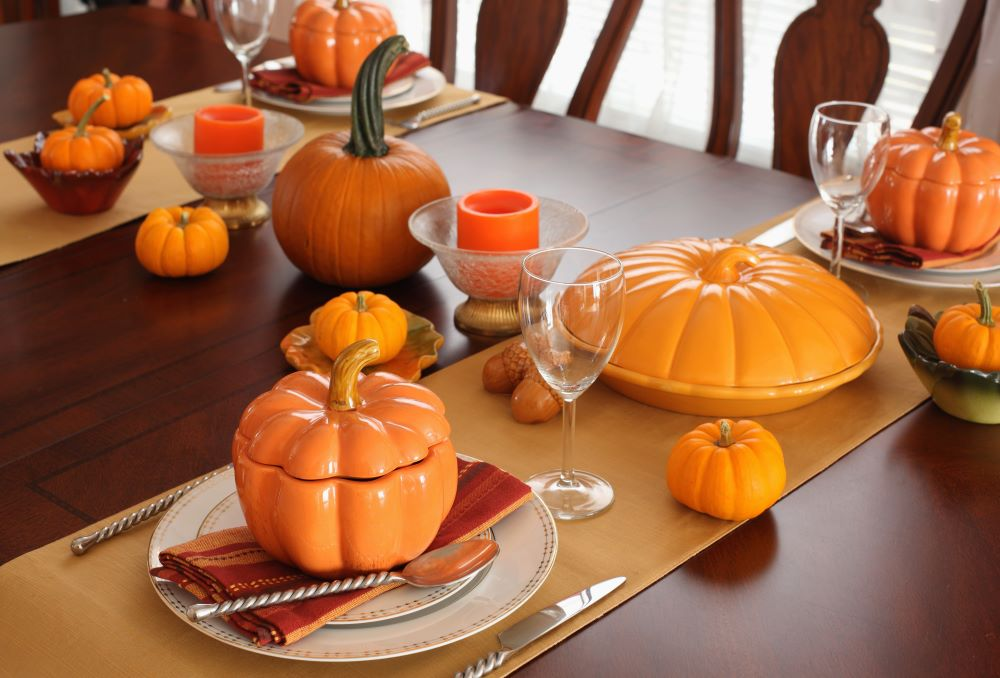 How To Style Your Dining Table For Fall - themed serveware