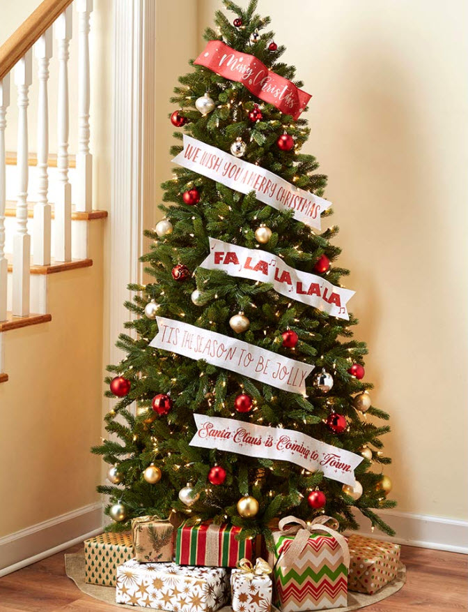 christmas in july sale - Set of 5 Wired Paper Banners