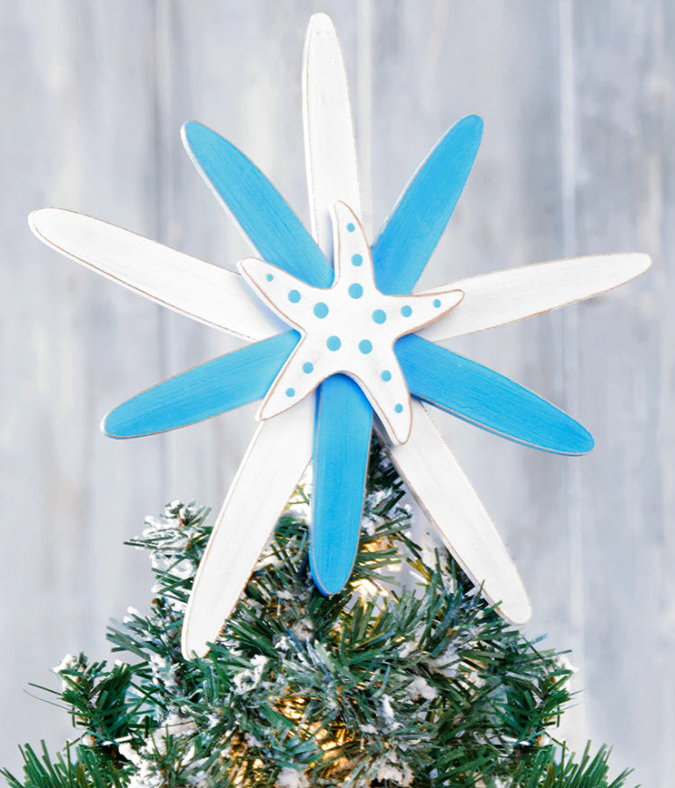 christmas in july sale - Starfish Tree Topper
