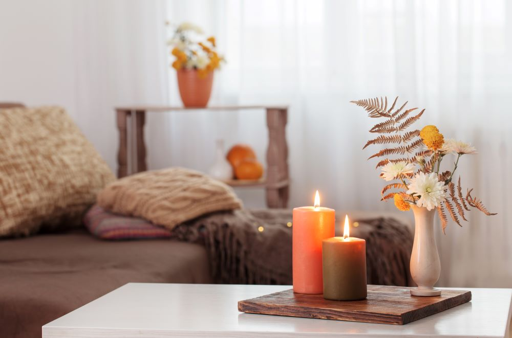 Make Your Living Room Cozy For Fall - candles