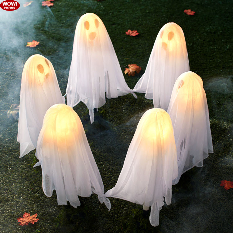 Lighted Yard Ghosts