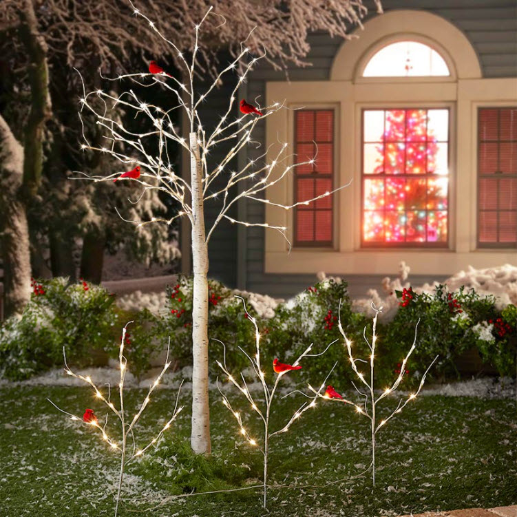 Holiday Lighted Trees