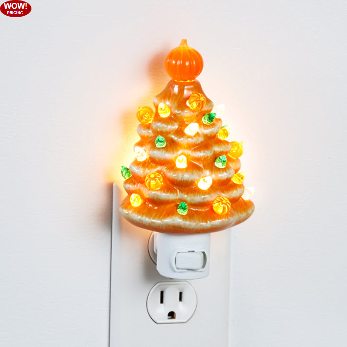 Retro Lighted Harvest or Candy Corn Trees