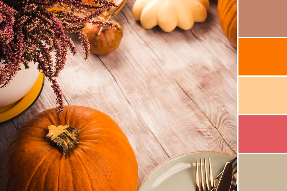 How To Decorate Using Fall Colors - choose a color palette