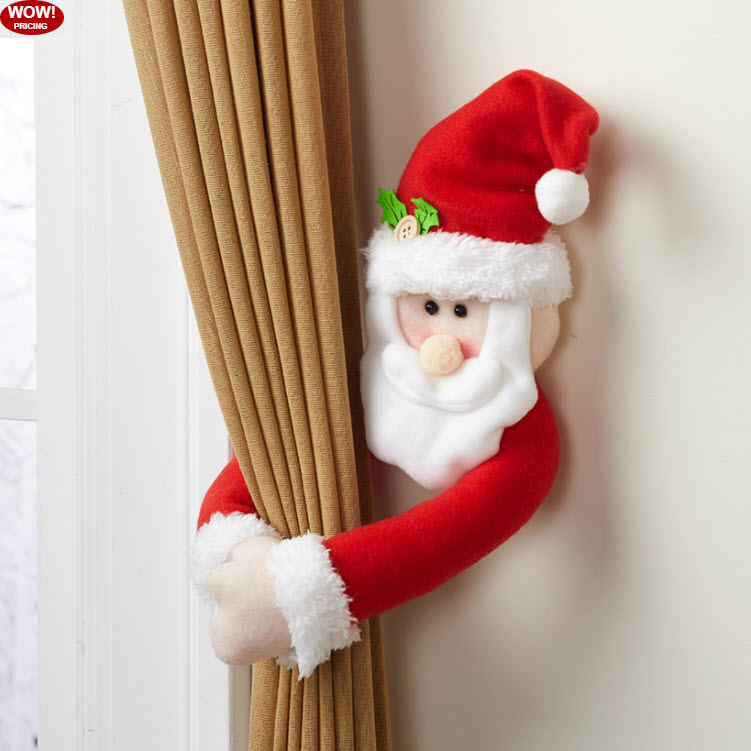 Sets of 2 Holiday Curtain Tie-Backs