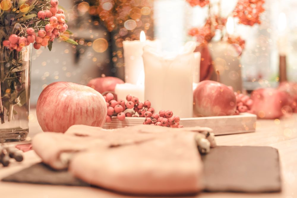 fall themed dining table