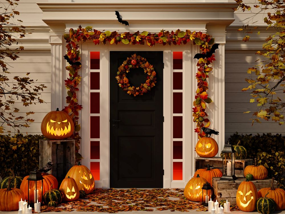 How To Transition The Porch From Fall To Halloween - lighted decorations