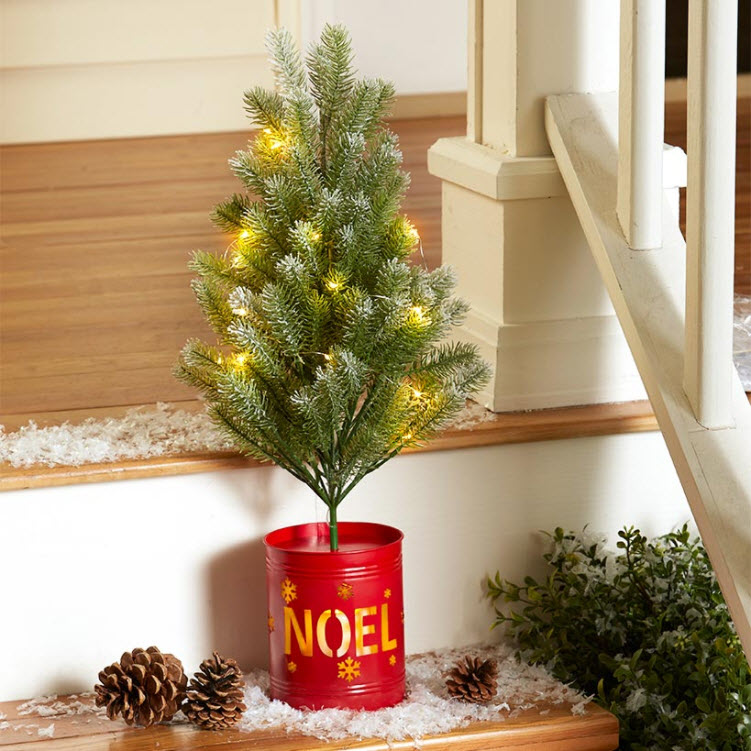 Christmas Tree in Lighted Pot