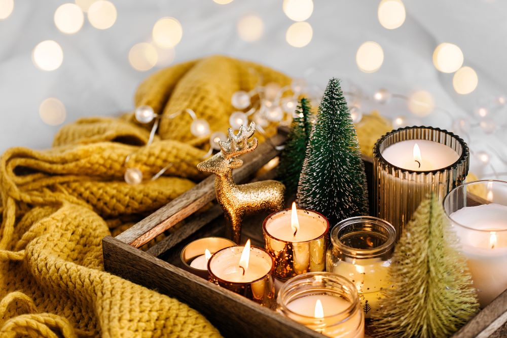 Country Christmas Decorating Ideas - country Christmas tray